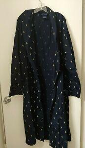 Polo Ralph Lauren Blue Lightweight Cotton Long Sleeve Robe Mens L/XL NWOT