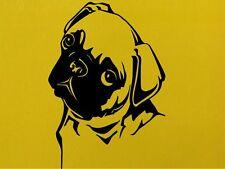 Pug Dog Animals Wall Art  Vinyl Sticker Wall Decal  Transfersl Home Love Dogs