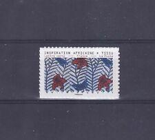 timbre France autoadhésif neuf** 2019 Tissus motif nature TBE