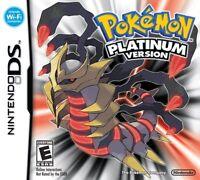 Pokemon Platinum Nintendo DS Game NDS Lite DSi 2DS 3DS XL a F01