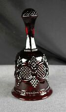 Dinner Bell, 1979 Ruby Red Glass Cape Cod Collection Christmas Bell