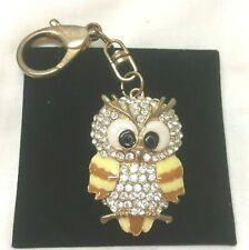 Enamel And Rhinestone Owl Keyring Vintage Jewellery Delightful And Adorable