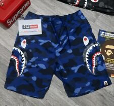A Bathing Ape Bape Shark Beach Shorts Color Camo Blue Camo L Large Pants Bottoms