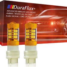 DuraFlux 3157 54SMD LED Switchback White Yellow Turn Signal Light w/ Quartz Tube