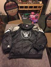 Oakland Raiders Starter Pro Line Puffy Nfl Jacket Men's Large