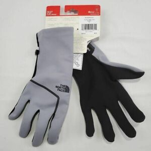 The North Face Mens Closefit Soft Shell Gloves Gray Stretch Windproof XL New