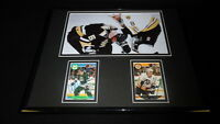 Cam Neely & Ulf Samuelsson Dual Signed Framed 11x14 Fight Photo Display Bruins