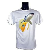 NEFF - T-shirt uomo - Modello SHARK NANA - 146 - Colore White - Taglia M