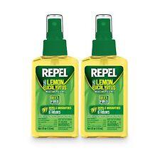 2-PACK Repel Lemon Eucalyptus Natural Insect Mosquito Repellent 4oz, Pump Spray