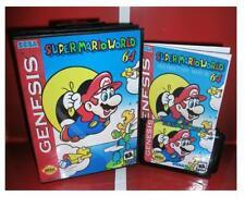 Super mario world 64 for Sega MegaDrive Video Game system 16 bit MD card