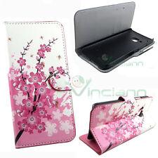 Custodia booklet FIORI di PESCO per HTC One M9 flip cover STAND case portafoglio