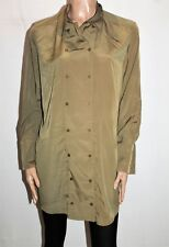 KJ Kirrily Johnston Brand Khaki Double Breasted Longline Shirt Size 4 BNWT #TM68