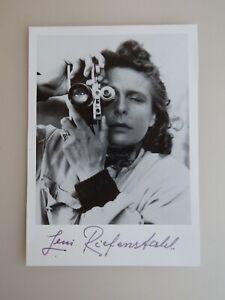Autogramm Leni Riefenstahl Regisseurin Schauspielerin (79510)