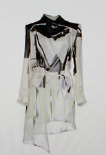 NWOT Ann Demeulemeester sz 38/6 Black/white Silk Dress Jacket