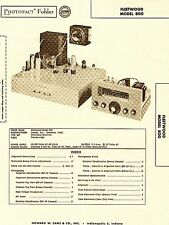 1956 Service Photofact Manual w-Schematic FOR A FLEETWOOD 800 TV Television