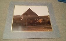 VTG Large Matted Photograph Egypt Pyramid Sphinx Valley of Kings Photo