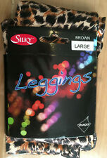 "New Brown Animal Print Leggings 5ft 6"" - 5ft 10"" Hip 42"" - 48"" Footless Large"