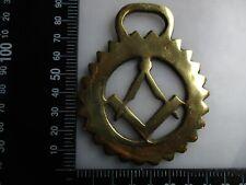 Vintage masonic horse brass