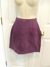 NWT $ 149 PURPLE fully lined SUEDE  MINI SKIRT size 8