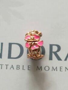 Genuine Pandora Rose Gold Peach Blossom Flower Clip 788099CZ