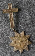1897 KNIGHTS TEMPLAR OHIO STATE CONCLAVE MEDAL JEWEL - REED COM'Y NO. 6, DAYTON