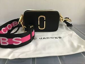 Clearance Marc Jacobs Logo Strap Snapshot Small Camera Bag Crossbody Bag Black