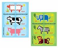 Shoezooz - Educational Shoe stickers for Kids. 2 Pack (Farm,Jungle)