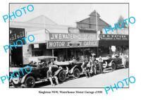 OLD 6 x 4 PHOTO SINGLETON NSW WATERHOUSE MOTOR GARAGE c1930