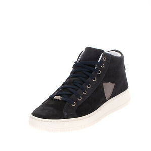 Suede Leather Sneakers EU 41 UK 8 US 11 Thick Sole Patched Mid Top Made in Italy