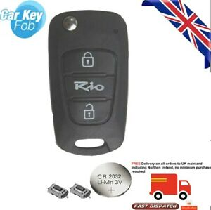for Kia RIO 2 Button KEY FOB REMOTE Key FOB Repair Fix Kit