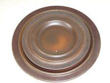 Arabia Pottery Finland Ruska Platter Dinner Plate and Salad Plate Set