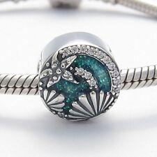 SEA STAR & SHELLS CHARM Bead Sterling Silver.925 For European Bracelet 465