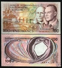 LUXEMBOURG 100 FRANCS P14A 1981 EURO JEAN HENRY B or K UNC CURRENCY MONEY 1 NOTE