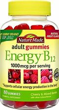 Nature Made Energy B12 Adult Gummies, 80 Ct (8 Pack)