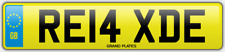 Relax Relaxed number plate RE14 XDE CAR REG FEES PAID RELAXING DRIVE CHILL COMFY