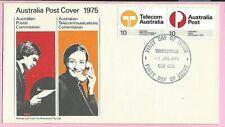 AUSTRALIA 1975 FDC - POST & TELECOMS - Fdi TOWNSVILLE. QLD