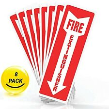 Fire Extinguisher Safety Sign Sticker High Quality Self Adhesive Arrow Symbol