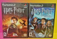 Harry Potter Goblet Fire + Azkaban  PS2 Playstation 2 Game Lot Tested Complete