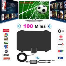 Digital HDTV Indoor TV Antenna+Aerial Amplified 100 Mile Range VHF UHF Freeview
