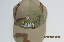 Army Nascar Autography Hat with Old Tickets
