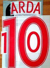 Turkey EURO 2016 Away Shirt ARDA#10 OFFICIAL SportingiD Name Number Set