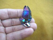 (R1-26) iridescent Aurora Crystal quartz titanium GEM gemstone Aura specimen