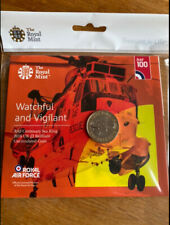 £2 coin RAF Centenary Sea King Helicopter. Royal Mint sealed pack. 2018.