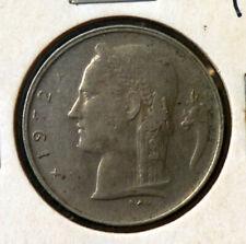 1972 Belgium 1 Franc Cupro Nickel 'UNCLEANED' 'VF/EF'.