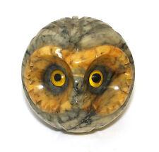 Volterra Alabaster Owl Figurine Mid Century Modern Big Eyes - Made in Italy  New