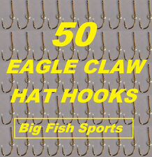 50 EAGLE CLAW HAT HOOKS Hat Pin/Tie Clasp GOLD PLATED FISH HOOK HAT PINS #155
