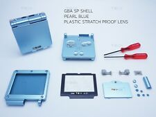 Pearl Blue Nintendo Game Boy Advance SP GBA Case Casing Shell Housing Tool blue
