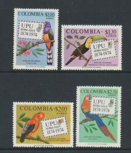 Columbia/Colombia - 1974, Air. UPU, Columbian Birds set - MNH - SG 1363/6