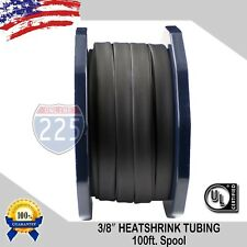 38 Inch 100 Ft 100 Feet Black 9mm Polyolefin 21 Heat Shrink Tubing Tube Ul