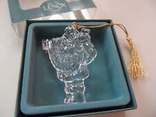 Lenox Holiday Crystal Santa Ornament New In Original Box